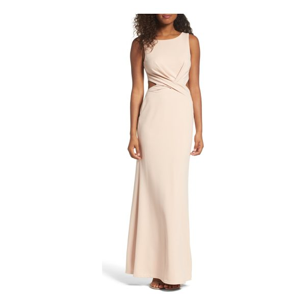LULUS cutout mermaid gown - Small cutouts show a touch of skin as they grace the sides...