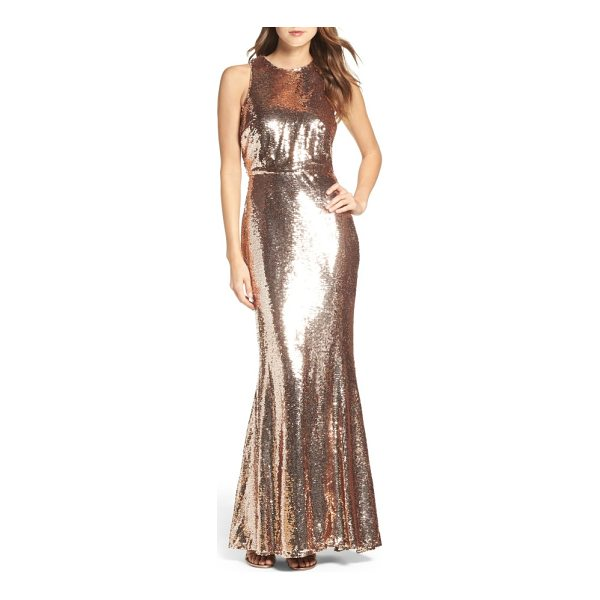 LULUS sequin mermaid gown - Dazzling from head to toe, a shapely mermaid gown...