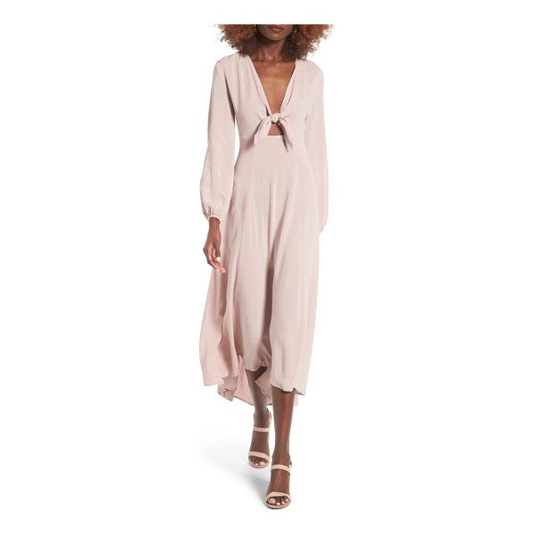 LUSH front tie maxi dress - A plunging neckline and peekaboo front cutout turn up the...