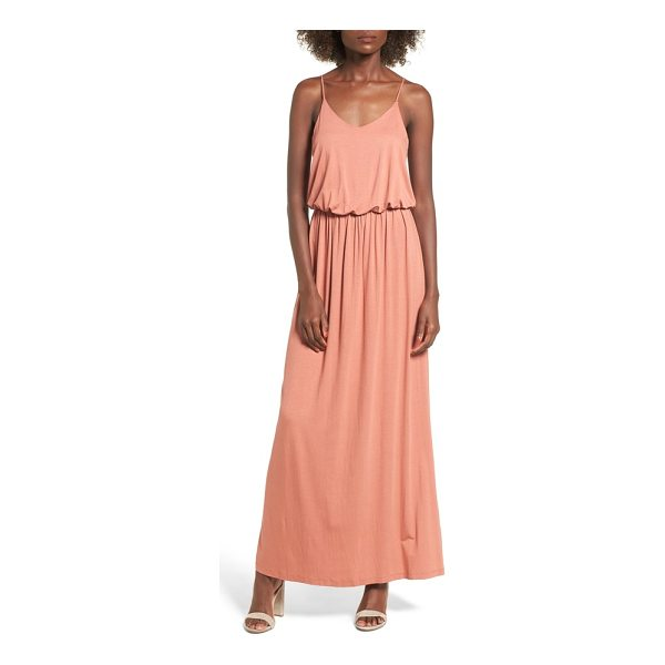 LUSH knit maxi dress - Ultra-skinny adjustable straps top a maxi dress with a...