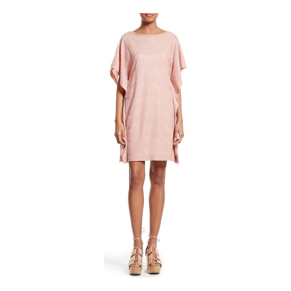 M MISSONI metallic zigzag jersey dress - Projecting easy elegance, a caftan-style shift with...