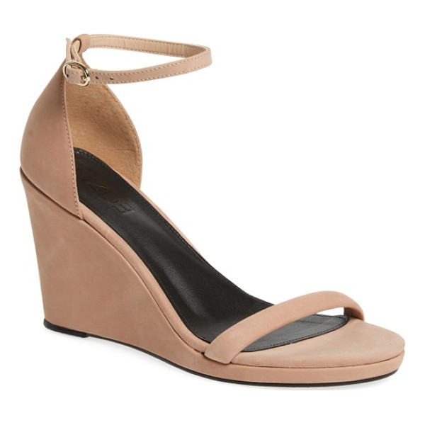 M4D3 FOOTWEAR m4d3 alice wedge - A slim ankle strap and an angled toe strap keep the look...