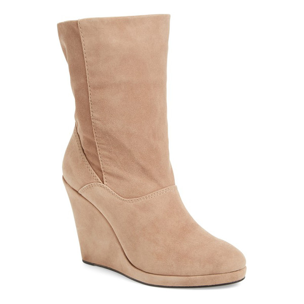 M4D3 FOOTWEAR m4d3 melanie wedge boot - A lofty wrapped wedge adds the perfect touch of...
