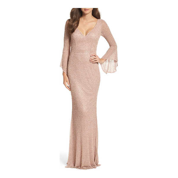 MAC DUGGAL beaded bell sleeve gown - Look like you just stepped off the red carpet in this...