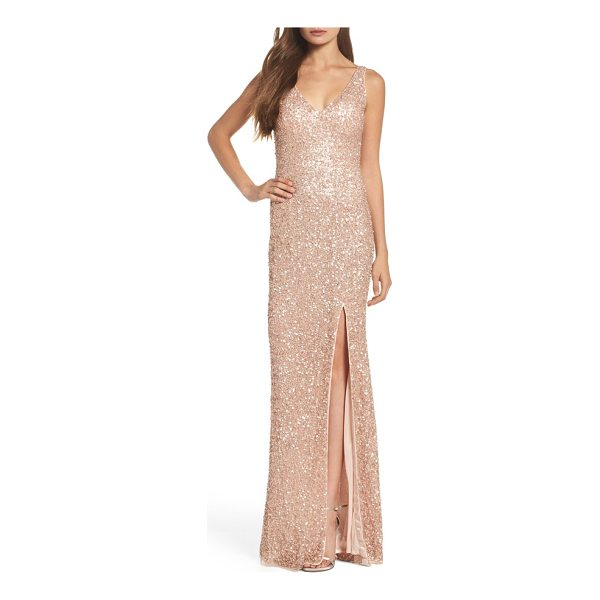 MAC DUGGAL sequin slit gown - Look like you just stepped off the red carpet in this...
