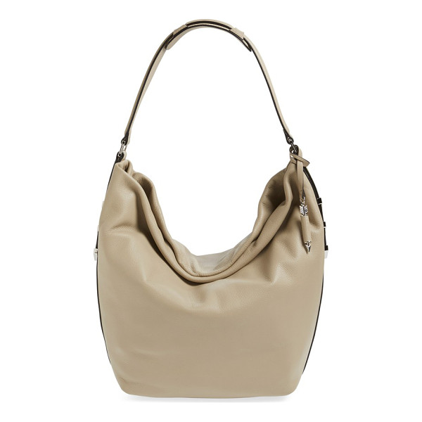 MACKAGE Declan leather hobo - Richly textured Italian leather amplifies the modern...