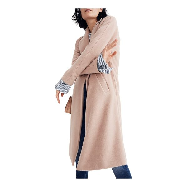 MADEWELL atlas cocoon coat - Italian melton wool-blend stops the cold in its tracks-yet...