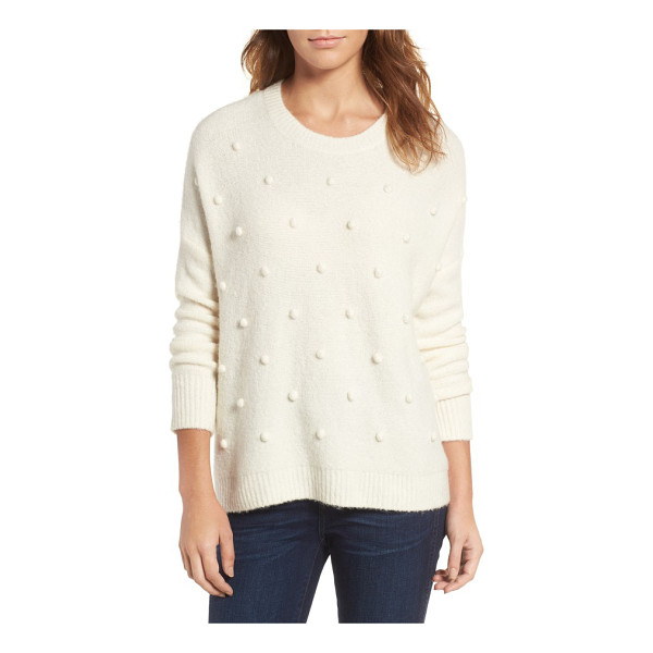 MADEWELL bobble pullover sweater - Tonal bobbles add a sweet touch of whimsy to an ultra-cozy...