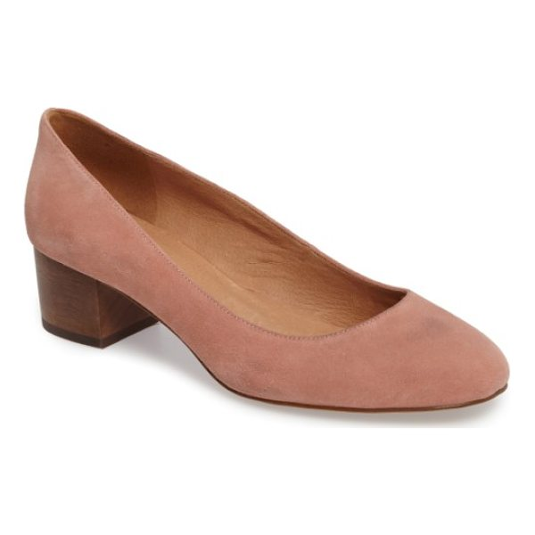 MADEWELL ella pump - A stable, wooden-block heel looks fresh and makes it easy...