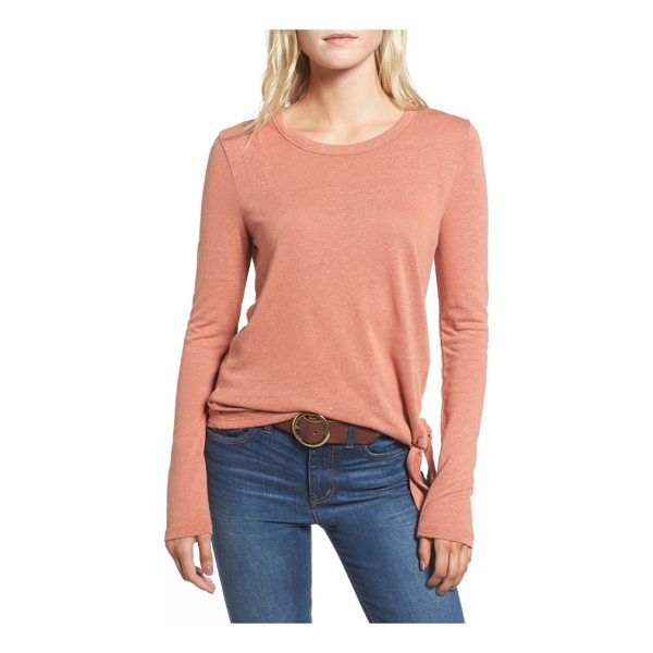 MADEWELL soundcheck side tie tee - A simple side tie adds serious character to this essential...