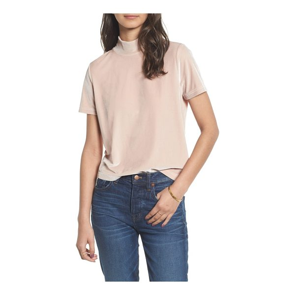 MADEWELL velvet mockneck tee - Turn your T-shirt game up a notch-or two-with lustrous...