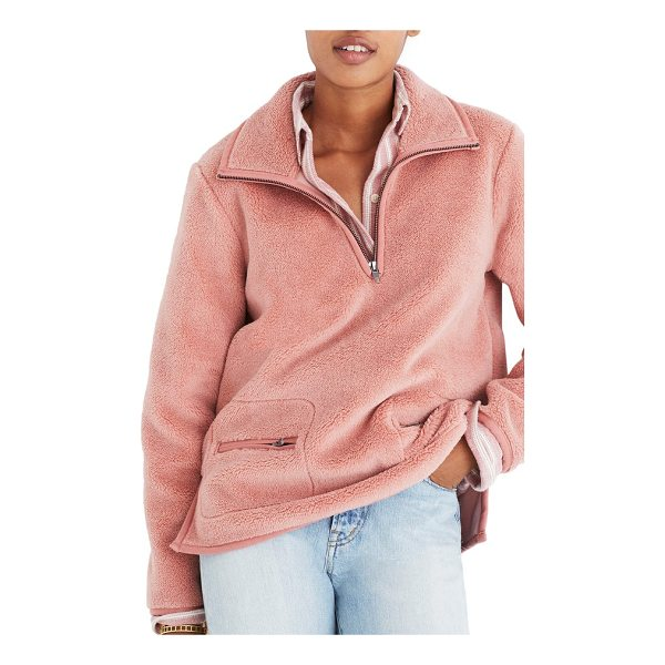 MADEWELL zooey fleece pullover - Fuzzy and fluffy, this high-pile fleece pullover is...