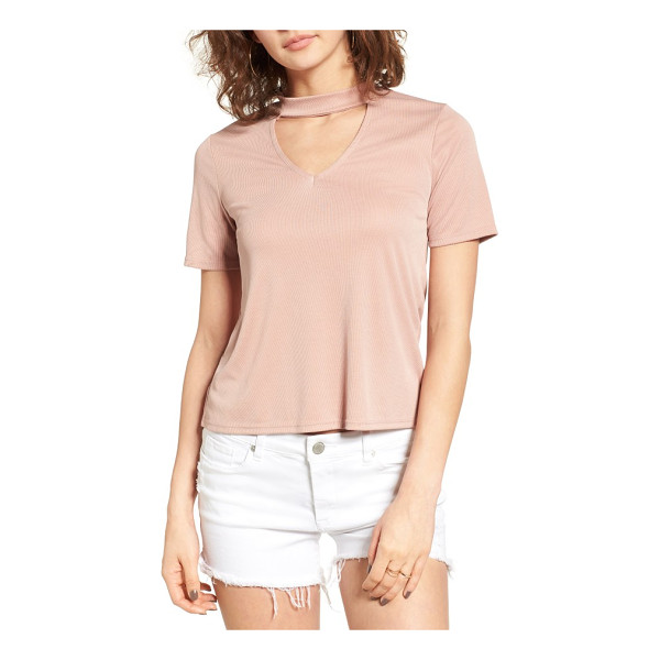 MADISON & BERKELEY choker tee - Cut from a supremely soft modal blend, this laid-back luxe...