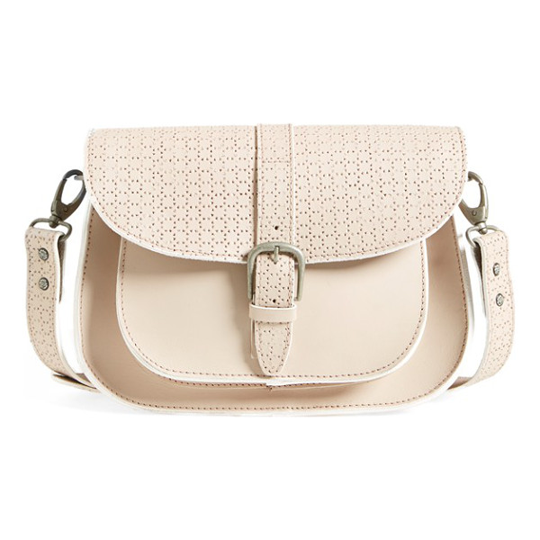 MAISON SCOTCH Perforated shoulder bag - Exquisite perforations lend breezy sophistication to the...