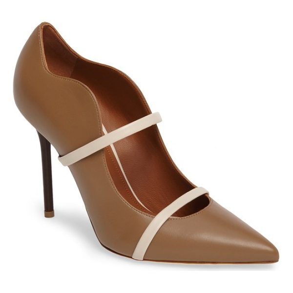 MALONE SOULIERS maureen double band pump - Handmade by expert cordwainers in Italy, this...