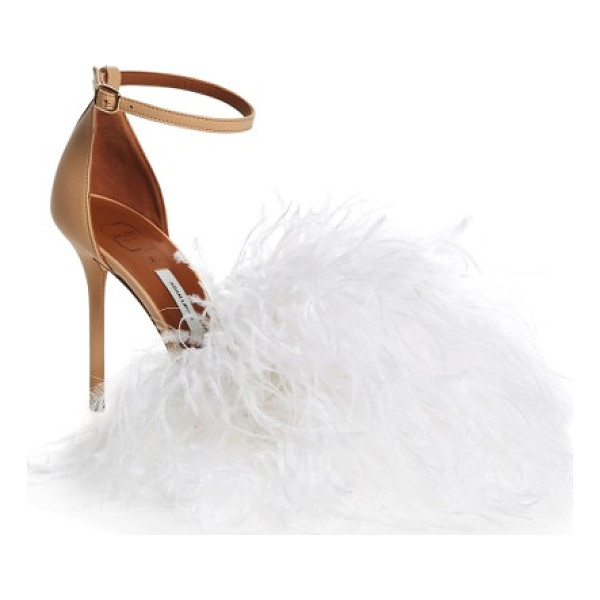 MALONE SOULIERS nicoletta feather sandal - Modern design meets vintage glamour on an ankle-strap