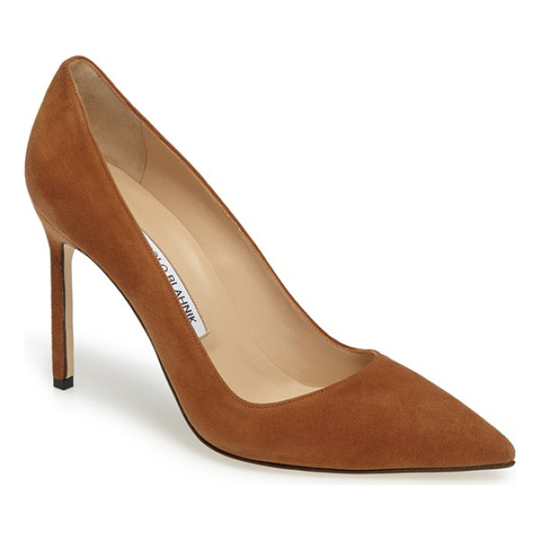 MANOLO BLAHNIK 'bb' pointy toe pump - Simply gorgeous: A classic pointy-toe pump available in a...