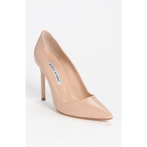 MANOLO BLAHNIK bb pointy toe pump - Simply gorgeous: A classic pointy-toe pump features an...
