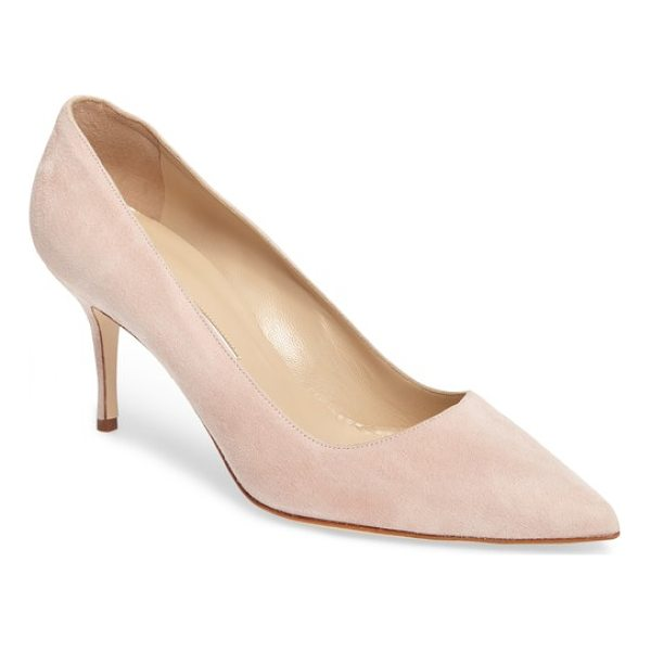 MANOLO BLAHNIK bb pump - Simply gorgeous: A classic pointy-toe pump in lush suede...