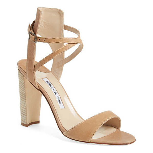 MANOLO BLAHNIK convu ankle strap sandal - Swaths of beautifully tanned leather strap the foot to this...