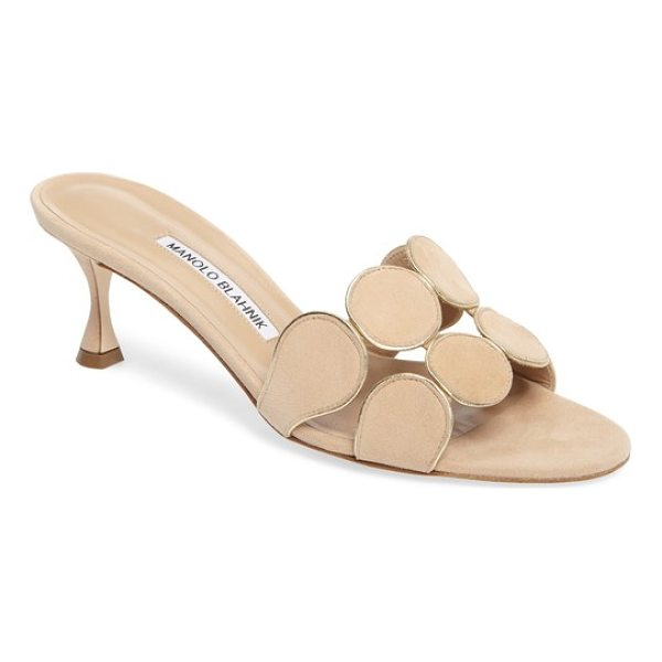 MANOLO BLAHNIK hairibalmu sandal - A geometric-themed strap at the toes accentuates the...