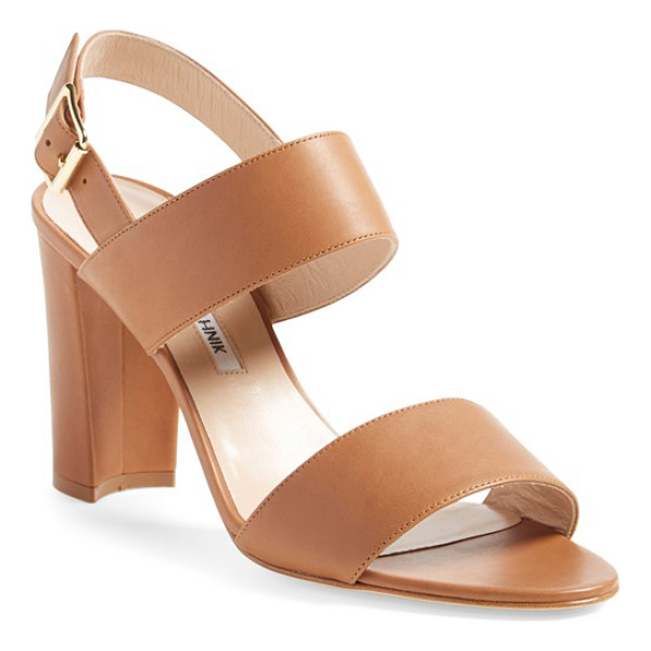 MANOLO BLAHNIK 'khan' two strap sandal - A two-strap sandal crafted in Italy from smooth leather or...