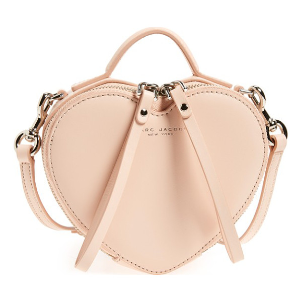 MARC JACOBS Heart leather crossbody bag - Wear your heart crossbody style-or sling it over your...