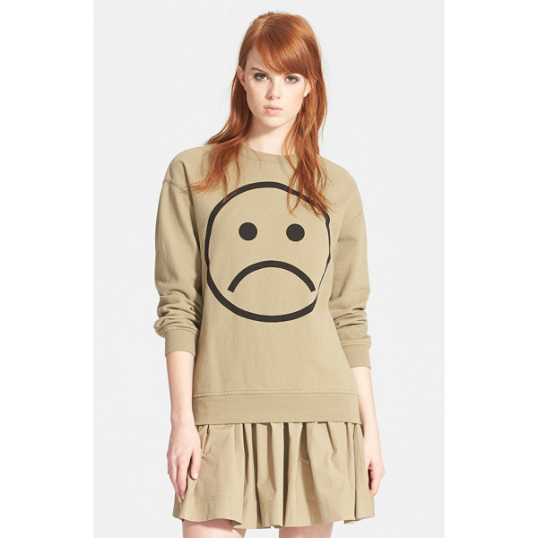 MARC BY MARC JACOBS magnified sad face sweatshirt - Too busy to properly show your displeasure? Let your...