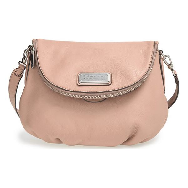 MARC BY MARC JACOBS New q - Crafted in buttery-soft, lightly textured Italian leather,...
