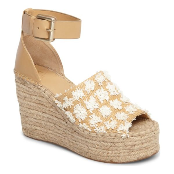MARC FISHER LTD adalyn wedge sandal - A wide, adjustable strap at the ankle secures a breezy...