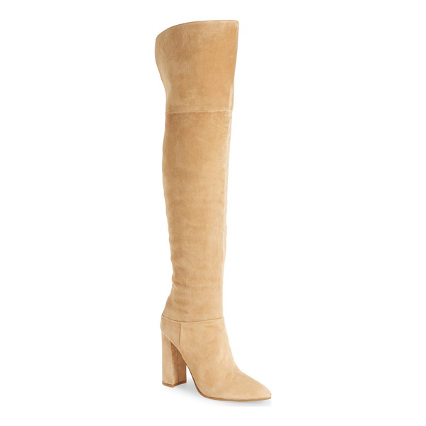 MARC FISHER LTD 'breley' over the knee boot - Lush suede is shaped into a must-have over-the-knee boot...