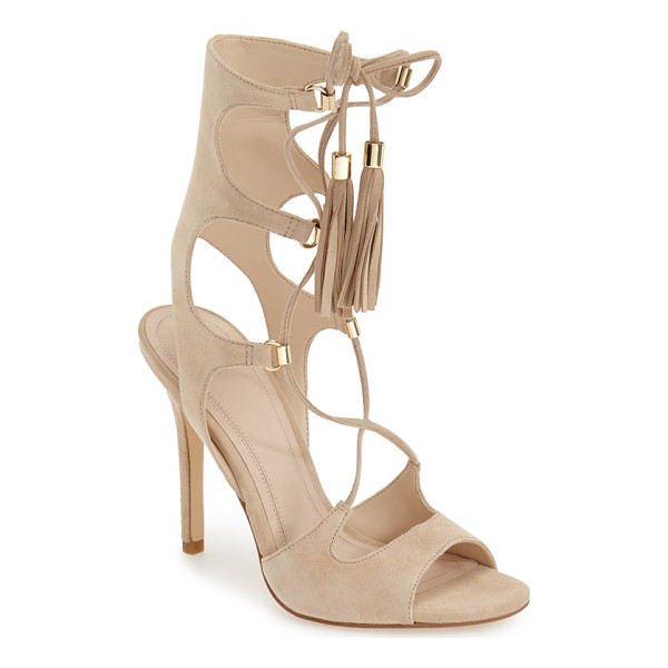 MARC FISHER LTD 'larsa' lace up sandal - Slender tassel-tipped laces secure a breathtaking gladiator...