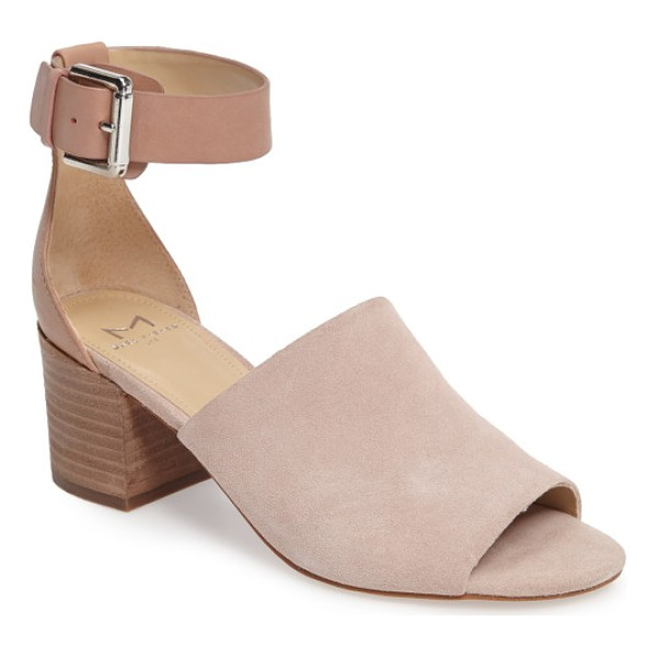 MARC FISHER LTD robe sandal - An open toe and a bold suede vamp define this versatile...