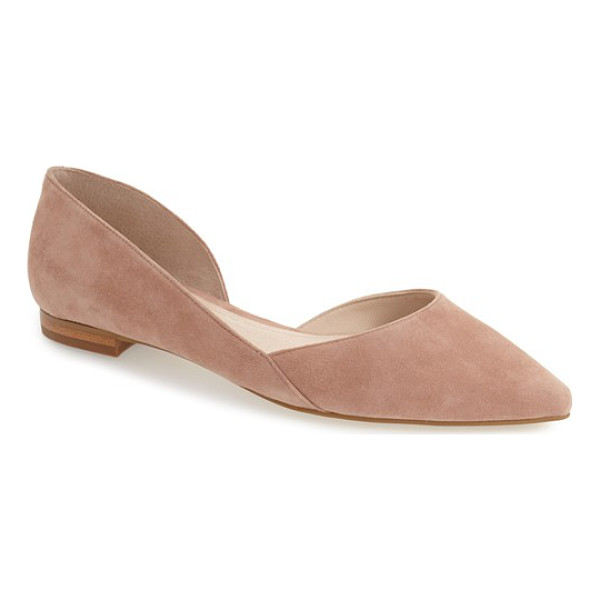 MARC FISHER LTD 'sunny' half d'orsay flat - A slim, lightweight flat with a well-cushioned footbed is...
