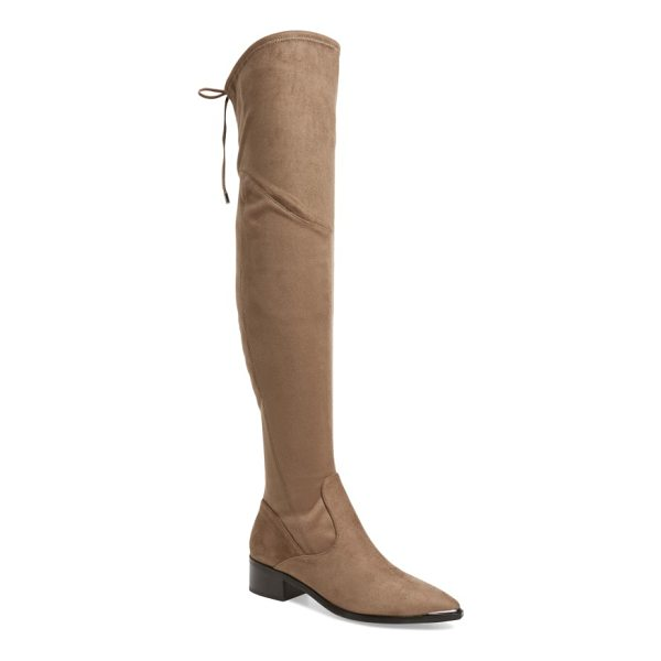 MARC FISHER LTD . yuna over the knee boot - Slim laces tie at the back of a luxe boot crafted in a...