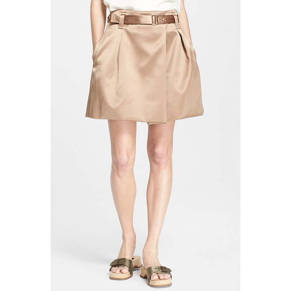 MARC JACOBS duchesse satin skirt - Lovely duchesse satin elevates a military-inspired skirt...