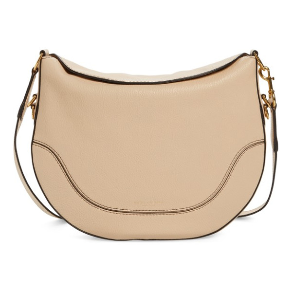 MARC JACOBS leather shoulder bag - A magnetic fold-down top and a curved saddlebag-inspired...