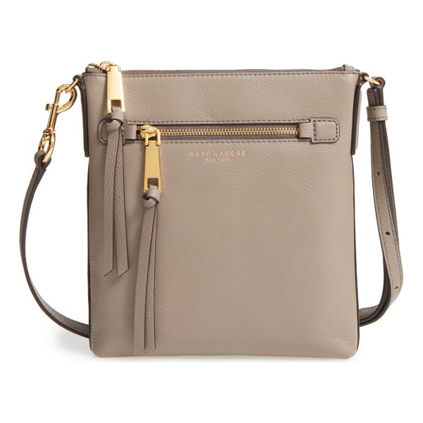 MARC JACOBS recruit north/south leather crossbody bag - Clean lines accentuate the classic silhouette of a...