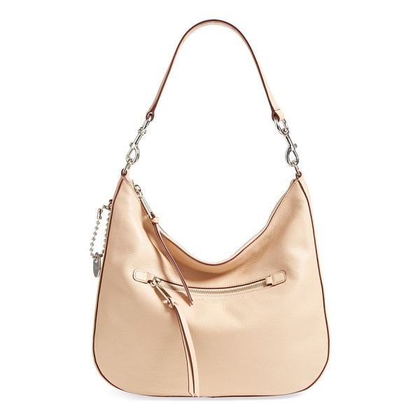 MARC JACOBS recruit leather hobo - Contrast-painted edges accentuate the lightly structured...