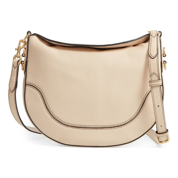 MARC JACOBS small leather shoulder bag - A magnetic fold-down top and a curved saddlebag-inspired...
