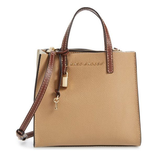 MARC JACOBS the grind mini colorblock leather tote - A scaled-smaller tote topped with slim handles and an...