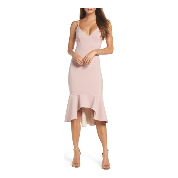 MARIA BIANCA NERO christy flounce high/low slipdress - A decollete neckline, curve-hugging fit and flouncy...