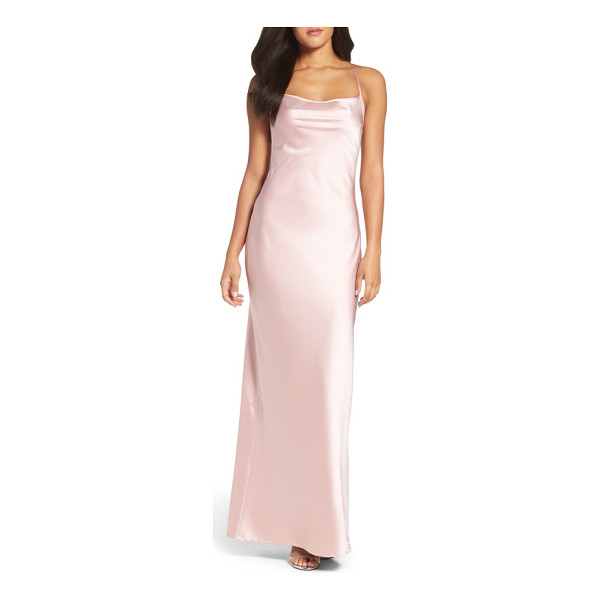 MARIA BIANCA NERO juliet satin gown - Take a cue from cool '90s minimalism in this silky satin...