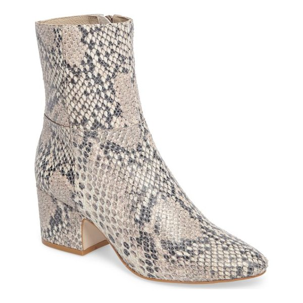 MATISSE at ease genuine calf hair bootie - Exotic texture takes center stage on a block-heel bootie in...