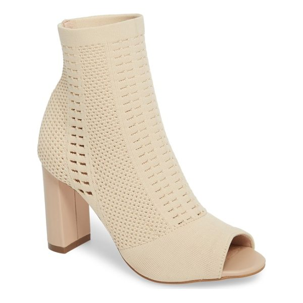MATISSE can't stop open toe sock bootie - Mixed stitches distinguish a trend-right sock bootie styled...