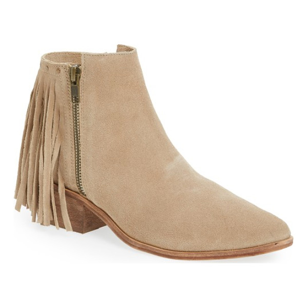 MATISSE coconuts by  billy studded fringe bootie - Rounded studs and a curtain of fringe enliven the back of a