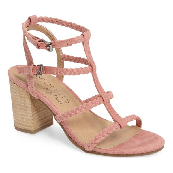 MATISSE coconuts by  cora sandal - Braided straps and a stacked block heel underscore the...