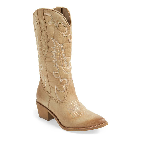 MATISSE desperado western boot - A waxed-textile upper made to mimic the texture and look of...