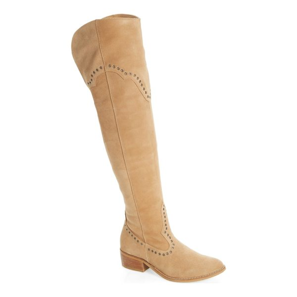 MATISSE studded western over the knee boot - Flat disc studs punctuate the Western-inspired seaming of...
