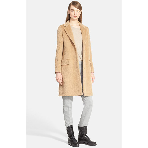 MAX MARA agami crocodile pattern alpaca & wool coat - An embossed crocodile pattern adds another layer of chic...